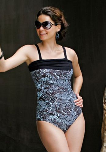 Jamu Cara Swimsuit (Blue & Black)